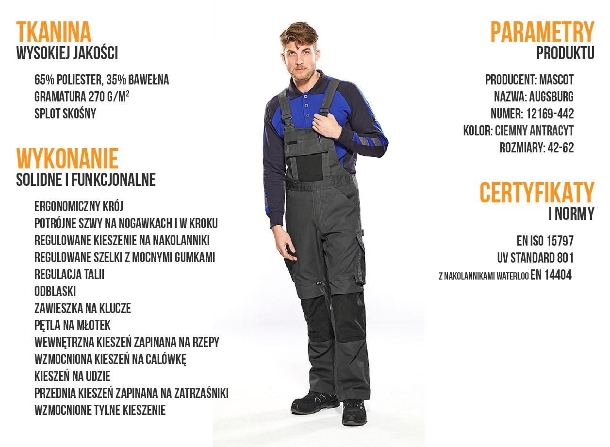 Spodnie robocze Mascot Augsburg - infografika